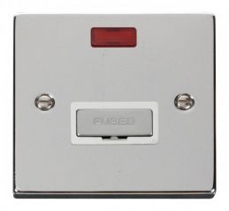 Scolmore Click Deco VPCH753WH 13A Fused Ingot Connection Unit With Neon - White