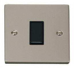 Scolmore Click Deco VPPN011BK 1 Gang 2 Way 10AX Switch - Black