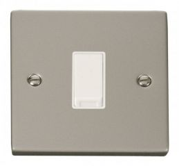 Scolmore Click Deco VPPN011WH 1 Gang 2 Way 10AX Switch - White