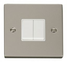 Scolmore Click Deco VPPN012WH 2 Gang 2 Way 10AX Switch - White