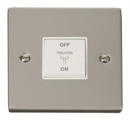 Scolmore Click Deco VPPN020WH 10A 1 Gang 3 Pole Fan Isolation Switch - White