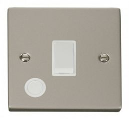 Scolmore Click Deco VPPN022WH 20A 1 Gang DP Switch With Flex Outlet - White