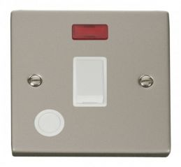Scolmore Click Deco VPPN023WH 20A 1 Gang DP Switch With Flex Outlet And Neon - White