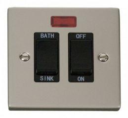 Scolmore Click Deco VPPN024BK 20A DP Sink/Bath Switch - Black