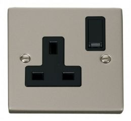 Scolmore Click Deco VPPN035BK 1 Gang 13A DP Switched Socket Outlet - Black