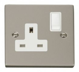 Scolmore Click Deco VPPN035WH 1 Gang 13A DP Switched Socket Outlet - White