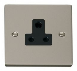 Scolmore Click Deco VPPN038BK 5A Round Pin Socket Outlet - Black