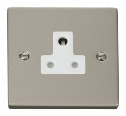 Scolmore Click Deco VPPN038WH 5A Round Pin Socket Outlet - White