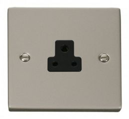 Scolmore Click Deco VPPN039BK 2A Round Pin Socket Outlet - Black
