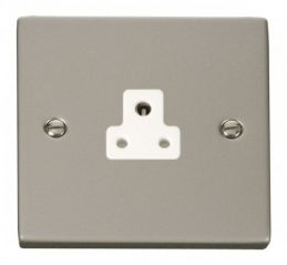 Scolmore Click Deco VPPN039WH 2A Round Pin Socket Outlet - White