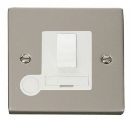 Scolmore Click Deco VPPN051WH 13A Fused Switched Connection Unit With Flex Outlet - White