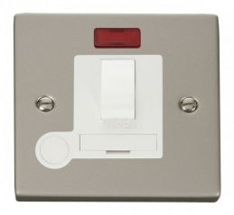 Scolmore Click Deco VPPN052WH 13A Fused Switched Connection Unit With Flex Outlet & Neon - White