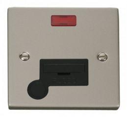 Scolmore Click Deco VPPN053BK 13A Fused Connection Unit With Flex Outlet & Neon - Black