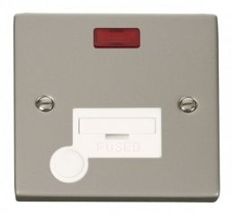 Scolmore Click Deco VPPN053WH 13A Fused Connection Unit With Flex Outlet & Neon - White
