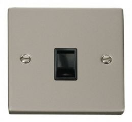 Scolmore Click Deco VPPN115BK Single RJ11 Socket (Ireland/USA) - Black