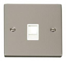 Scolmore Click Deco VPPN115WH Single RJ11 Socket (Ireland/USA) - White