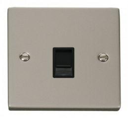 Scolmore Click Deco VPPN117BK Single RJ45 Socket Outlet - Black