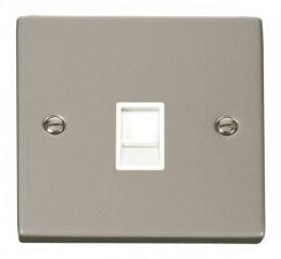 Scolmore Click Deco VPPN117WH Single RJ45 Socket Outlet - White