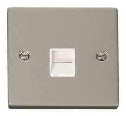 Scolmore Click Deco VPPN120WH Single Telephone Socket Outlet Master - White