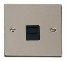 Scolmore Click Deco VPPN125BK Single Telephone Socket Outlet Secondary - Black