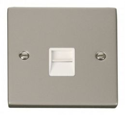 Scolmore Click Deco VPPN125WH Single Telephone Socket Outlet Secondary - White