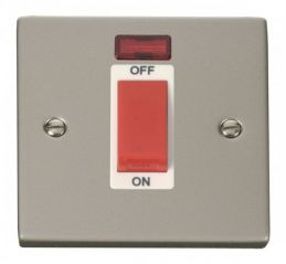 Scolmore Click Deco VPPN201WH 1 Gang 45A DP Switch With Neon - White