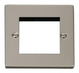 Scolmore Click Deco VPPN311 Single Plate (Twin Media Module Aperture)