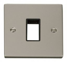 Scolmore Click Deco VPPN401BK 1 Gang Plate Single Aperture - Black