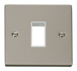 Scolmore Click Deco VPPN401WH 1 Gang Plate Single Aperture - White