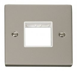 Scolmore Click Deco VPPN402WH 1 Gang Plate Twin Aperture - White