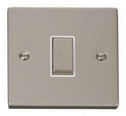 Scolmore Click Deco VPPN411WH 1 Gang 2 Way Ingot 10AX Switch - White