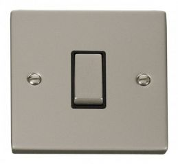 Scolmore Click Deco VPPN425BK 1 Gang Intermediate Ingot 10AX Switch - Black