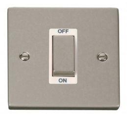 Scolmore Click Deco VPPN500WH 1 Gang 45A Ingot DP Switch - White