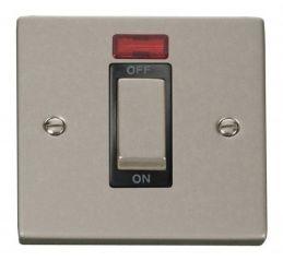 Scolmore Click Deco VPPN501BK 1 Gang 45A Ingot DP Switch With Neon - Black