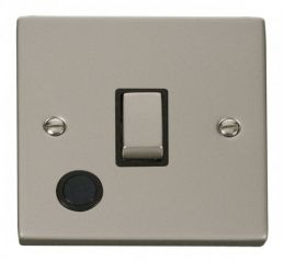 Scolmore Click Deco VPPN522BK 20A 1 Gang DP Ingot Switch With Flex Outlet - Black