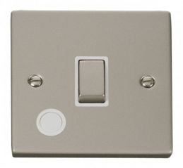 Scolmore Click Deco VPPN522WH 20A 1 Gang DP Ingot Switch With Flex Outlet - White