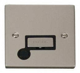 Scolmore Click Deco VPPN550BK 13A Fused Ingot Connection Unit With Flex Outlet - Black