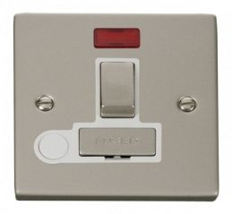Scolmore Click Deco VPPN552WH 13A Fused Ingot Switched Connection Unit With Flex Outlet & Neon - White