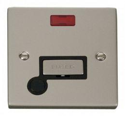 Scolmore Click Deco VPPN553BK 13A Fused Ingot Connection Unit With Flex Outlet & Neon - Black