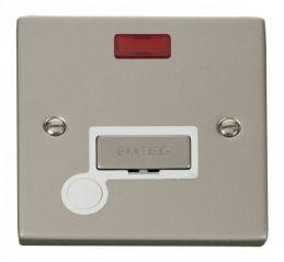 Scolmore Click Deco VPPN553WH 13A Fused Ingot Connection Unit With Flex Outlet & Neon - White