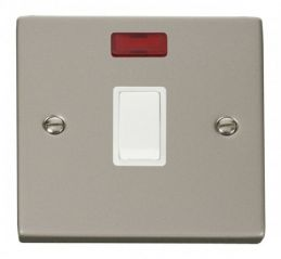 Scolmore Click Deco VPPN623WH 20A 1 Gang DP Switch + Neon - White