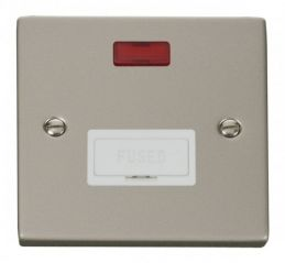 Scolmore Click Deco VPPN653WH 13A Fused Connection Unit With Neon - White