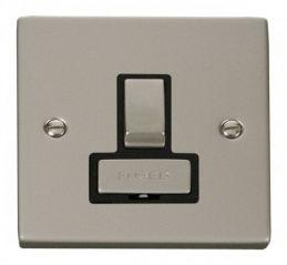 Scolmore Click Deco VPPN751BK 13A Fused Ingot Switched Connection Unit - Black
