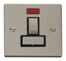 Scolmore Click Deco VPPN752BK 13A Fused Ingot Switched Connection Unit With Neon - Black