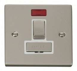Scolmore Click Deco VPPN752WH 13A Fused Ingot Switched Connection Unit With Neon - White
