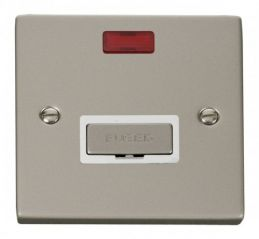 Scolmore Click Deco VPPN753WH 13A Fused Ingot Connection Unit With Neon - White
