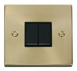 Scolmore Click Deco VPSB012BK 2 Gang 2 Way 10AX Switch - Black