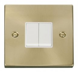 Scolmore Click Deco VPSB012WH 2 Gang 2 Way 10AX Switch - White