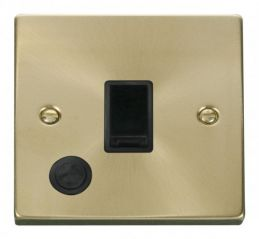 Scolmore Click Deco VPSB022BK 20A 1 Gang DP Switch With Flex Outlet - Black