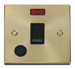 Scolmore Click Deco VPSB023BK 20A 1 Gang DP Switch With Flex Outlet And Neon - Black